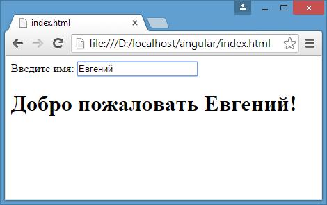 Первое приложение на AngularJS