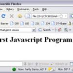 Первая программа на JavaScript