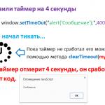 Таймеры в JavaScript