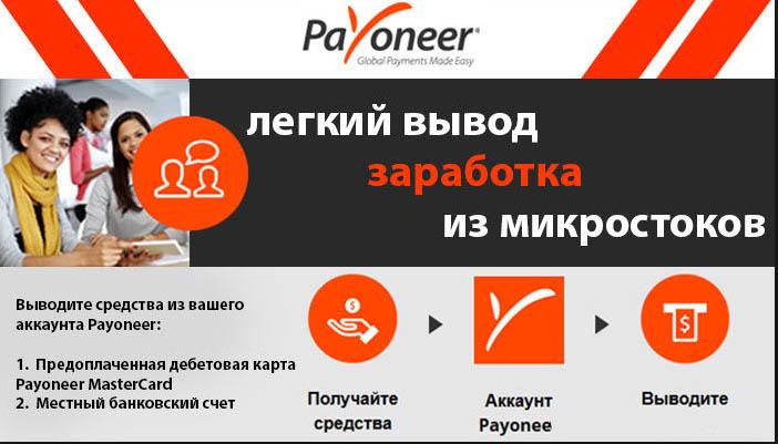 Payoneer переводите деньги по всему миру