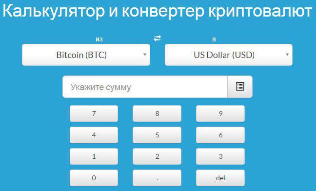 калькулятор биткоинов