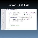 Запуск кода из строки: метод eval